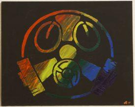 gleiche Maske,in Regenbogenfarben