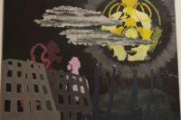 Apokalyptisches Motiv mit Atom-Anspielungen
