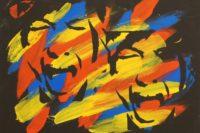 2 schreiende Frauen, Schablone