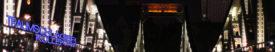 Nachtbild vom Eisernen Steg, aufgenommen von Süden nach Norden