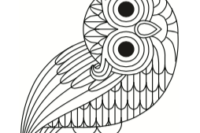 Logo der documenta 14, Zeichnung einer Eule mit schiefgehaltenem Kopf