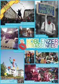 Plakat der Siks für das Straßenfest
