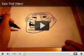 """Bild, das suggeriert, ein Video zu sein - Titel """"Epic Troll Video"""""""